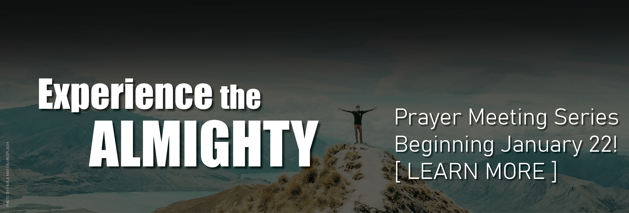 """Experience the Almighty"" Prayer Meeting Series Starts January 22 @ 7pm"
